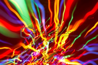 abstract background: colored light motion blurs #6