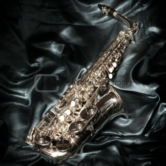 Saxophone over velvet