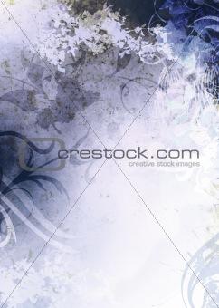 Dark Blue Grunge Textured Background