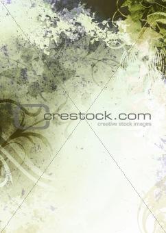Green Grunge Textured Background