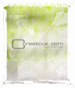 Green Polaroid Textured Background