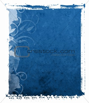 Blue Polaroid Transfer Textured Background