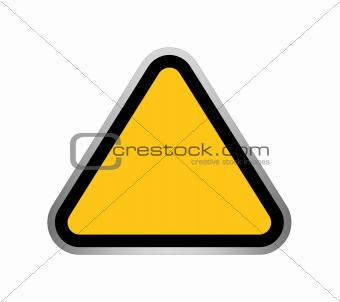 Blank Hazard Sign