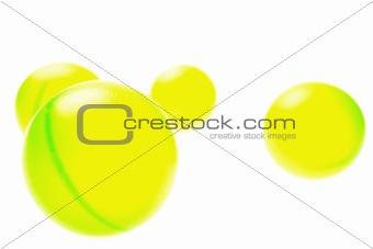 Four Green Balls