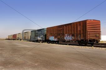 Old Wagons with Graffiti