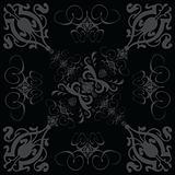 flower tile gothic 3 black