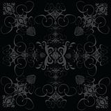 flower tile gothic black