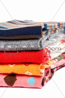 Several colors clothes stack