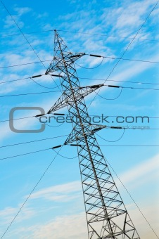 Power pole and cables