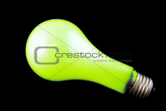 Bright Green Light Bulb