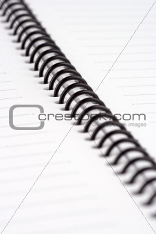 Close up of Spiral Note Book
