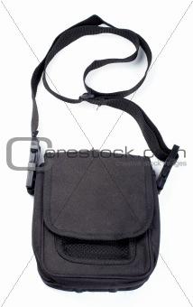 Black handbag isolated
