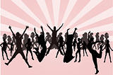 Women silhouettes vector illustration