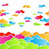 Rainbow cloudscape background
