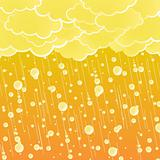 Sunset summer showers background