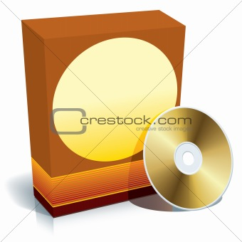 Box and CD vector