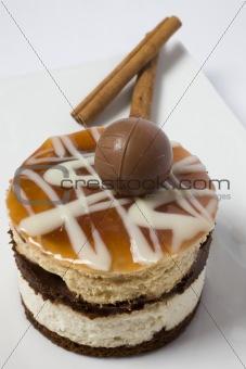 cake and chocolate ball
