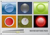 Vector buttons pack