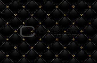 Vector illustration of black leather background
