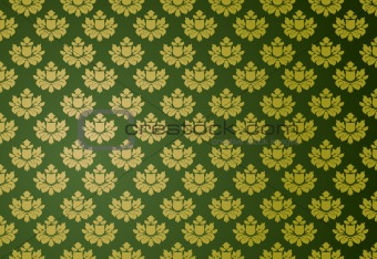 Gold and green glamour pattern