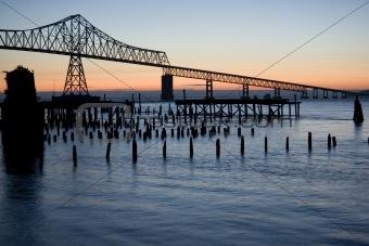 Astoria Bridge at sunset