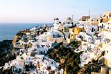 Small town Oia on Santorini Island, Greece