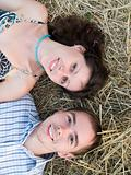 Lovely couple in straw