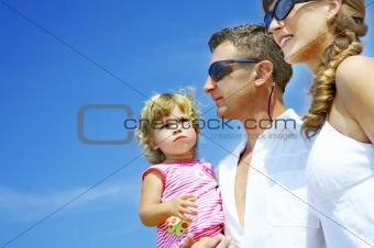 three on beach