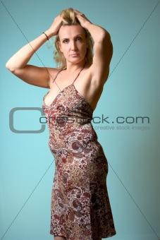 Portrait of mature blond woman