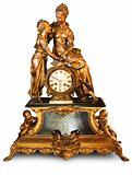 Antique clock with figurines