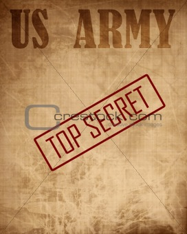 Old paper texture with 'top secret'