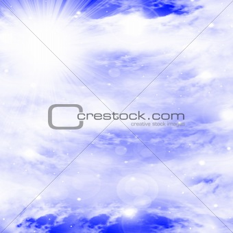 clouds with intense sunlight