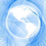Circular bytes with globe