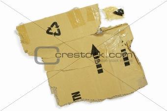 Cardboard box mangled