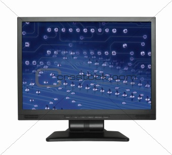 LCD screen with electronic wallpaper