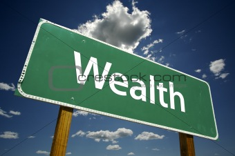 Wealth Road Sign