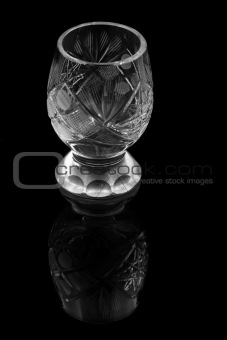 liqueur glass with reflection
