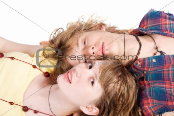 Portrait of smiling young beauty couple 9