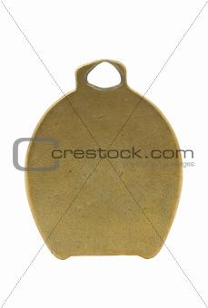 blank old metal tag