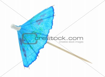 asian cocktail umbrella - pure white background