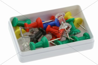 box full of pushpins