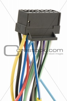 cable with cutoff point close up