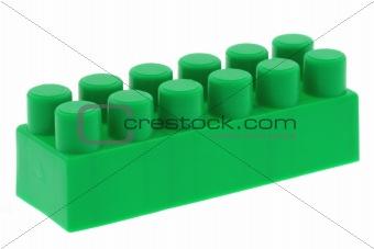 green building block - no trademarks