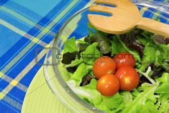 Bright green fresh salad