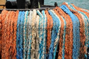 Fishing boat ropes