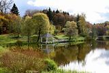 autumn park lake