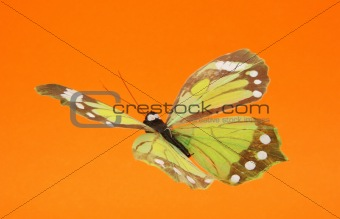 artificial butterfly in flight