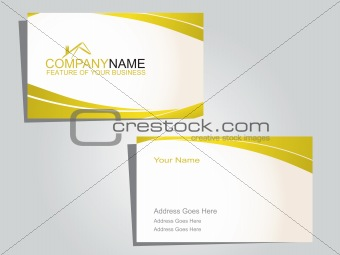 business card in white and green