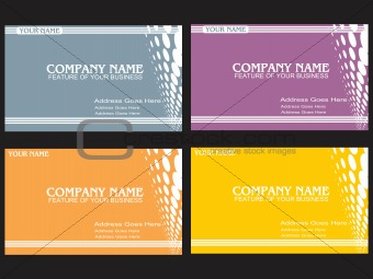 business card with halftone background