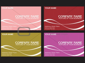 business card with wave elements